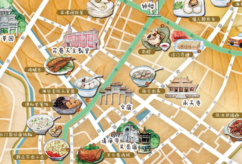(书中手绘地图)